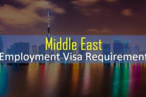 Employment visa documents middle east UAE Hotel Jobs
