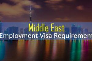 Employment visa documents middle east UAE Hotel Jobs