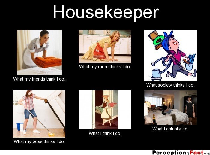 Funny Pictures related to Hospitality industry- Work in Housekeeping