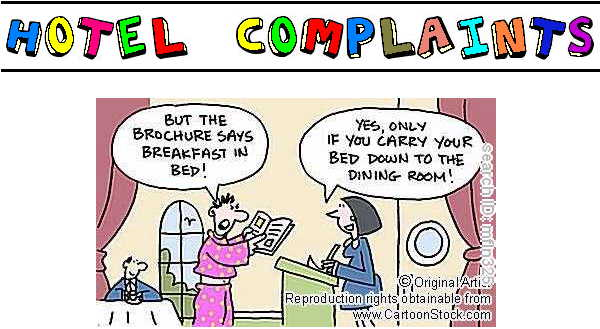Funny Hotel complaints