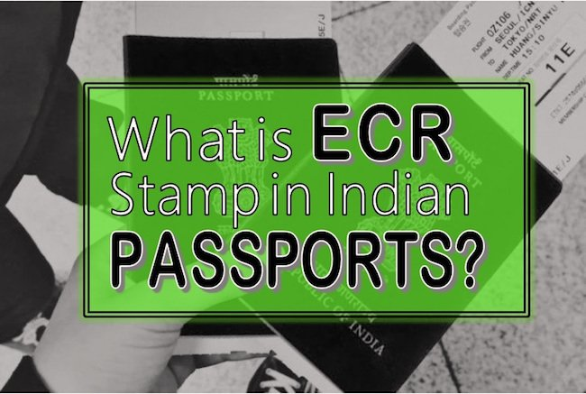 what is ECR in the passport? What is ECNR