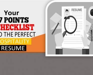 7 points checklist to a perfect resume