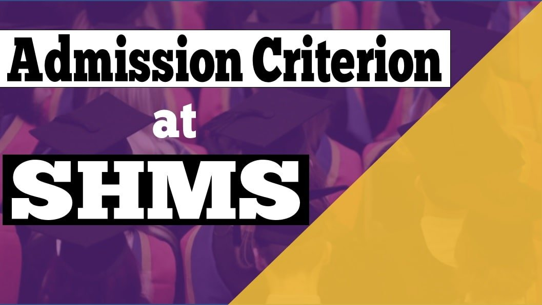 Eligibility Criterion at SHMS- Admissions