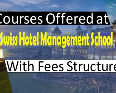 Hotel Management Courses Offered at SHMS along with fee structure