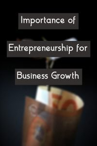 Importance of Entrepreneurship for Business Growth post COVID-19